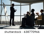 young managers clapping hands... | Shutterstock . vector #638770966