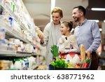 portrait of happy family... | Shutterstock . vector #638771962
