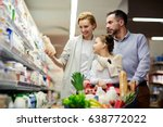portrait of happy family... | Shutterstock . vector #638772022