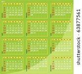 calendar for year 2011   Shutterstock .eps vector #63877561