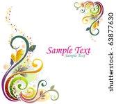 floral design | Shutterstock .eps vector #63877630