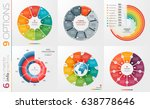 collection of 6 vector circle... | Shutterstock .eps vector #638778646