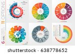 collection of 6 vector circle... | Shutterstock .eps vector #638778652