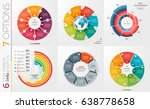 collection of 6 vector circle...   Shutterstock .eps vector #638778658