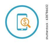 m commerce icon. business... | Shutterstock .eps vector #638786632