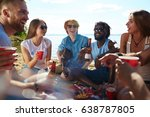 circle of happy young people...   Shutterstock . vector #638787805