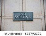 no smoking sign on brick   Shutterstock . vector #638793172