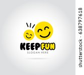 keep fun with smile emoticon... | Shutterstock .eps vector #638797618