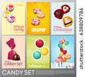realistic colorful candy shop... | Shutterstock .eps vector #638809786