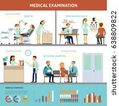 colorful medical examination... | Shutterstock .eps vector #638809822