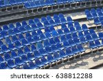 chairs in the stadium | Shutterstock . vector #638812288