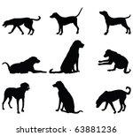 Stock vector vector dog silhouette 63881236