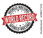 world record sign or stamp on... | Shutterstock .eps vector #638817142