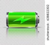 vector green battery  full... | Shutterstock .eps vector #638822302