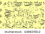 vintage notes pattern.ancient... | Shutterstock .eps vector #638825812