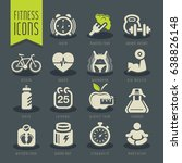 fitness and wellness icon set | Shutterstock .eps vector #638826148