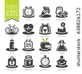 fitness and wellness icon set | Shutterstock .eps vector #638826172