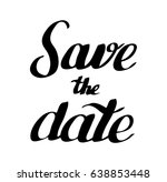 save the date   Shutterstock .eps vector #638853448