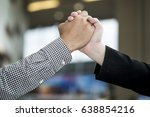 hand shake with the concept of... | Shutterstock . vector #638854216