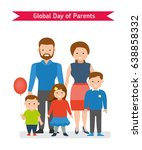 global day of parents. parents... | Shutterstock .eps vector #638858332
