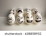 eggs face. the gay egg company... | Shutterstock . vector #638858932