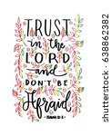 trust in the lord. bible verse. ... | Shutterstock .eps vector #638862382