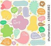 set of hand drawn speech and...   Shutterstock .eps vector #638881882
