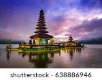 pura ulun danu bratan temple in ...   Shutterstock . vector #638886946