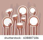 poverty stricken starving... | Shutterstock .eps vector #638887186