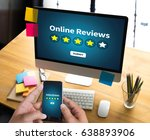 online reviews evaluation time... | Shutterstock . vector #638893906