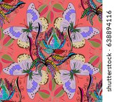 elegant seamless pattern with... | Shutterstock . vector #638894116