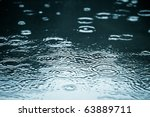 rain drops rippling in a puddle ... | Shutterstock . vector #63889711
