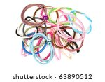 Set Of Colorful Hair Bands On ...