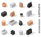 different box vector isometric... | Shutterstock .eps vector #638906896