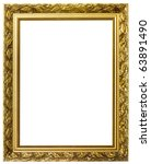 gold picture frame. isolated on ... | Shutterstock . vector #63891490