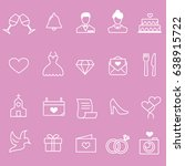 wedding line icons | Shutterstock .eps vector #638915722
