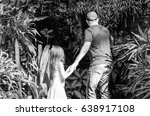 father and a young daughter in... | Shutterstock . vector #638917108