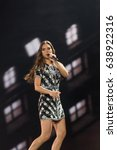 Small photo of KYIV, UKRAINE - MAY 10, 2017: Alma from France at the second semi-final rehearsal during Eurovision Song Contest, in Kyiv, Ukraine