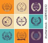 laurel wreath badges vector.... | Shutterstock .eps vector #638933152