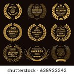 gold laurel wreaths | Shutterstock .eps vector #638933242