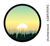 Vector Icon Forest And Sunrise...