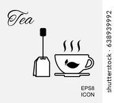 cup of hot tea vector icon and... | Shutterstock .eps vector #638939992