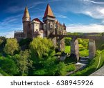 summer view on corvin castle...