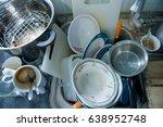 very dirty kitchen  dirty... | Shutterstock . vector #638952748