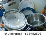 very dirty kitchen  dirty... | Shutterstock . vector #638952808