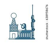 broadcasting building dish... | Shutterstock .eps vector #638958676
