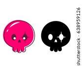 cute skull isolated vector...   Shutterstock .eps vector #638959126