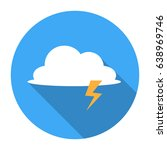 storm cloud flat icon  a flat... | Shutterstock .eps vector #638969746