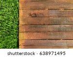 A Wooden Board On Green Grass ...