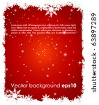 abstract christmas background | Shutterstock .eps vector #63897289